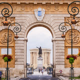 Arc de Triomphe, Montpellier, France. Royalty Free Stock Photo