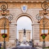Arc de Triomphe, Montpellier, Frankrijk. Royalty-vrije Stock Foto