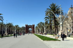 The arc de Triomphe is a monument in Barcelona. Served as the main entrance of the world Expo 1888. Stock Photos