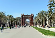 The arc de Triomphe is a monument in Barcelona. BARCELONA, SPAIN - MARCH 25, 2013:The arc de Triomphe is a monument in Barcelona. Served as the main entrance of Stock Photos
