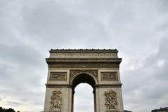 Arc de Triomphe with moody sky Royalty Free Stock Photos
