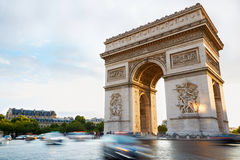 Arc de Triomphe, morning in Paris Stock Images