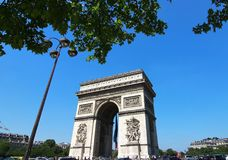 The Arc de Triomphe is  the most famous monuments in Paris. Arc de Triomphe is  the most famous monuments in Paris Royalty Free Stock Photos