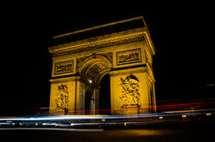 Arc De Triomphe. The arc de triomphe at night - charles de gaulle square paris france Royalty Free Stock Image