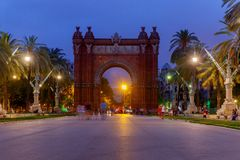 Barcelona. Triumphal Arch. Royalty Free Stock Photography