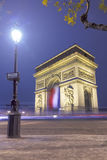 Arc de Triomphe. At Night, Paris, France Royalty Free Stock Images
