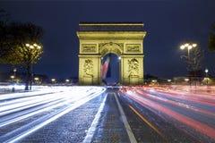 Arc de Triomphe. At Night, Paris, France Stock Images