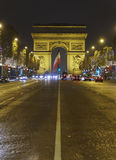 Arc de Triomphe. At Night, Paris, France Royalty Free Stock Image