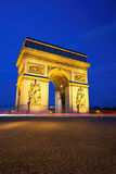 Arc de Triomphe at Night, Paris Royalty Free Stock Photos