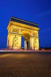 Arc de Triomphe at Night, Paris Royalty Free Stock Photos