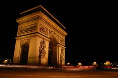 Arc de Triomphe night scene Royalty Free Stock Image