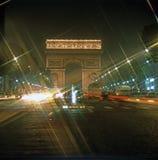 Arc de Triomphe. Night view of Arc de Triomphe,Paris Stock Image