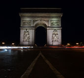 Arc de Triomphe. Nightscenery at Paris: view on Arc de Triomphe Stock Photography