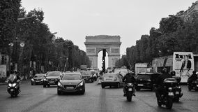 Arc de Triomphe, one of the most famous monuments in Paris. PARIS - SEPTEMBER 24: Arc de Triomphe, one of the most famous monuments, honoring those who died in Stock Images