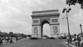 Arc de Triomphe, one of the most famous monuments in Paris. PARIS - SEPTEMBER 24: Arc de Triomphe, one of the most famous monuments, honoring those who died in Stock Photos