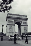 Arc de Triomphe, one of the most famous monuments in Paris Stock Images
