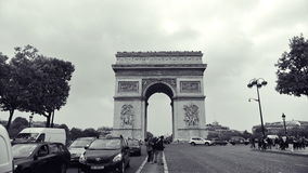 Arc de Triomphe, one of the most famous monuments in Paris Royalty Free Stock Images