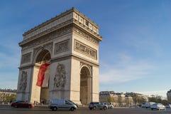 Arc de Triomphe. Overview of the Arc de Triomphe in Paris Stock Photography