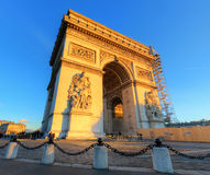 Arc de Triomphe panorama Royalty Free Stock Photography