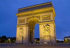 Arc de Triomphe París Fotos de archivo libres de regalías