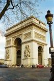Arc de Triomphe, París Francia Foto de archivo libre de regalías