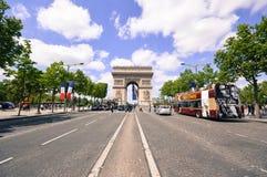 Arc de Triomphe, París, Francia fotografía de archivo libre de regalías