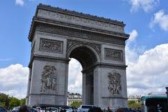 Arc de Triomphe, París Francia Imágenes de archivo libres de regalías