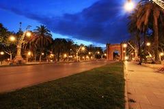 Arc de Triomphe in Parc de la Ciutadella at dusk. Barcelona Royalty Free Stock Photos