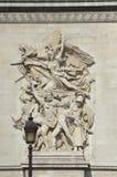 Arc de Triomphe a Parigi. Fotografia Stock