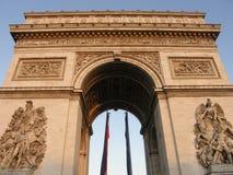 Arc de Triomphe a Parigi fotografia stock libera da diritti