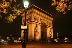 Arc de Triomphe a Parigi, Francia Fotografia Stock Libera da Diritti