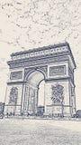 Arc de Triomphe a Parigi, Francia immagine stock libera da diritti