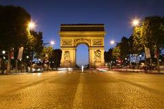 Arc DE Triomphe, Parijs stock afbeelding