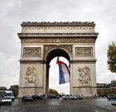Arc DE Triomphe, Parijs stock foto