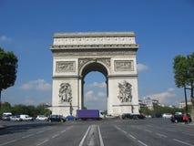 Arc DE Triomphe, Parijs royalty-vrije stock foto