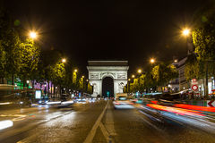 Arc DE Triomphe in Parijs stock foto