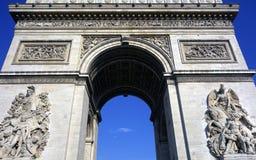 Arc de Triomphe, Parijs, Frankrijk Stock Afbeeldingen
