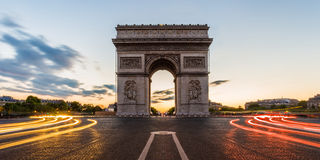 Arc de Triomphe Parijs, Frankrijk Royalty-vrije Stock Foto