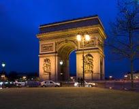 Arc DE Triomphe, Parijs, Frankrijk Stock Foto's