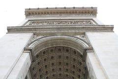 Arc DE Triomphe in Parijs, Frankrijk royalty-vrije stock afbeelding