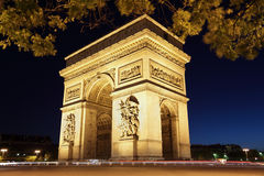 Arc de Triomphe, Paris. The international landmark the Arc de Triomphe in Paris Stock Photography