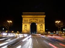 Arc de Triomphe Paris. Arc de Triomphe on the Champs Elysees in Paris Royalty Free Stock Photo