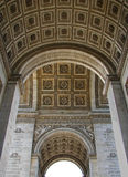 Arc de Triomphe in Paris. Interior of Arc de Triomphe in Paris, France Royalty Free Stock Photos