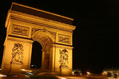 Arc de triomphe - Paris. The Arc de triomphe and place de l'etoile in Paris Royalty Free Stock Image