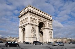 The Arc de triomphe in Paris Royalty Free Stock Image