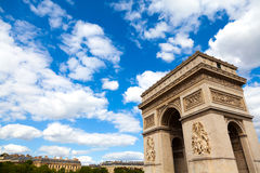 Arc de Triomphe, Paris. Arch of Triumph (Arc de Triomphe) in Paris, France Stock Photography