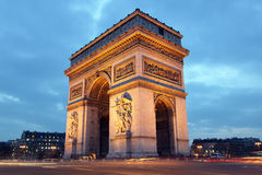 Arc de Triomphe, Paris. Arc de Triomphe in Paris, France at night Royalty Free Stock Image