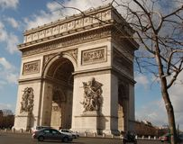Arc de Triomphe, Paris. Triumph Arch landmark in Paris Royalty Free Stock Image