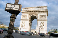 Arc de Triomphe - Paris Stock Image