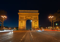 Arc de triomphe paris. Famous french landmark , Arc De Triomphe shot at night. Image No 116 Stock Image